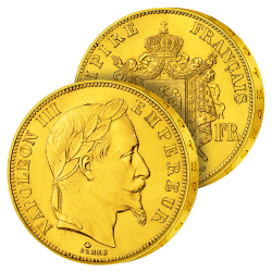 50 Francs Or Napoléon III...