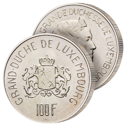 100 Francs Argent Luxembourg