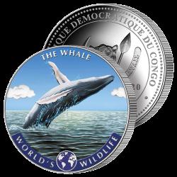 20 Francs Baleine Argent &...