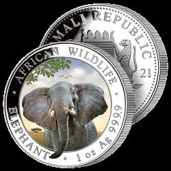 Grand Éléphant Argent &...