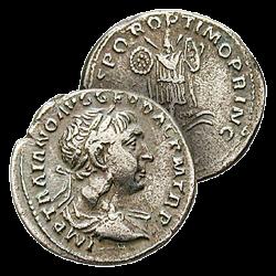 Denier Argent de Trajan et...