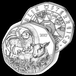 5€ Argent Agneau de Pâques