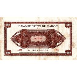 1.000 Francs Maroc type 1943