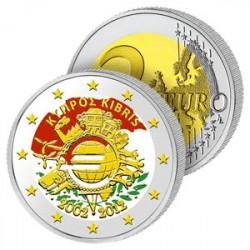 2 Euros Chypre 2012 en Couleurs