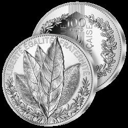 100 €uros Argent Le Laurier...