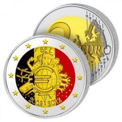 2 Euros Belgique 2012 en Couleurs