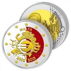 2 Euros Malte 2012 en Couleurs