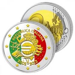 2 Euros Italie 2012 en Couleurs
