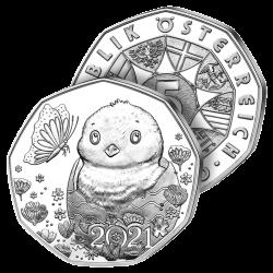 5€ Argent Poussin du Printemps