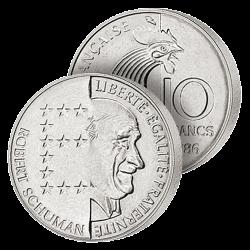 10 Francs Schuman 1986