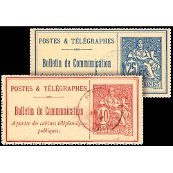 Les 2 Timbres-Cartes Téléphone