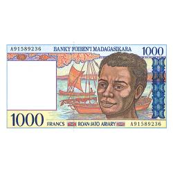 1.000 Francs Madagascar...