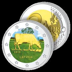 2 Euros Lettonie Couleurs –...