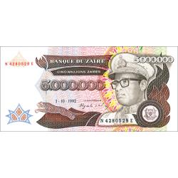 Billet 5 Millions de Zaïre