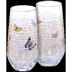 Duo de Verres Papillons Rosina