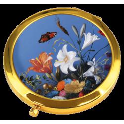Miroir de Poche Fleurs d'Été