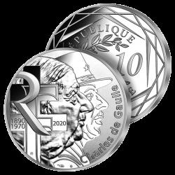 10€ Argent Charles de Gaulle