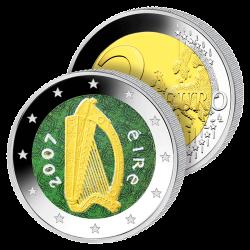 2 Euros Irlande Couleurs –...