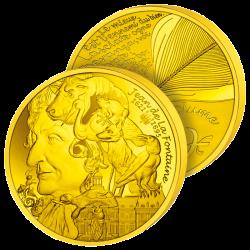 50€ Or Pur Jean de La Fontaine
