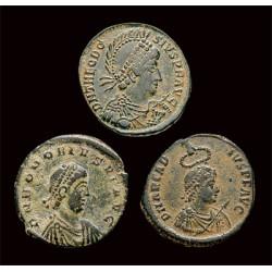 Les 3 Monnaies de la Chute de l'Empire Romain