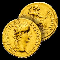 L'Aureus de l'Empereur Tibère
