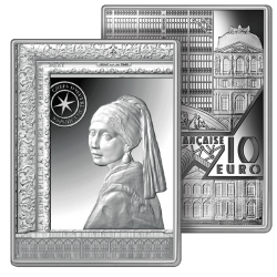 10 Euros Argent Pur Vermeer...