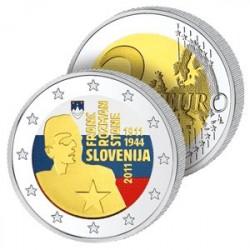 2 Euros Slovénie 2011 en Couleurs