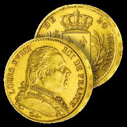 20 Francs Or Louis XVIII au...
