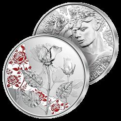 10€ Argent La Rose en Couleurs