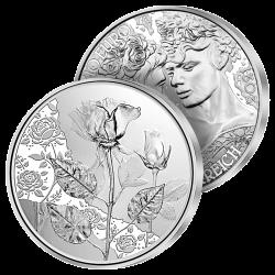 10€ Argent La Rose Classique