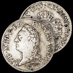 """Écu Argent de Louis XV """"à..."""