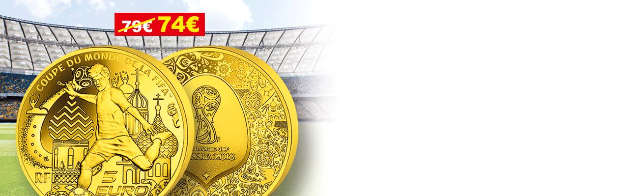 5€ Or Pur Coupe du Monde de la FIFA 2018