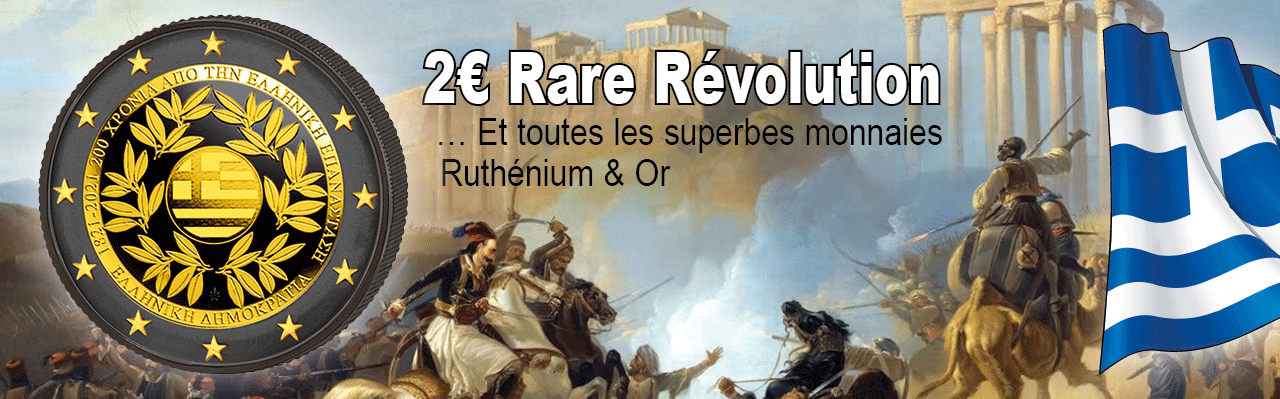 Monnaies Rares Ruthénium & Or